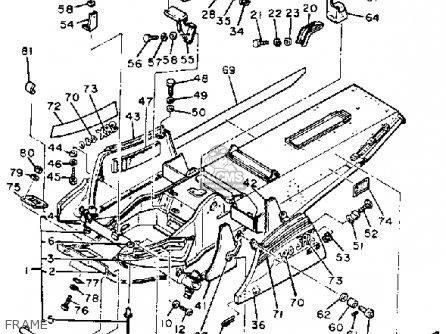 Yamaha Srx440e 1981 parts list partsmanual partsfiche