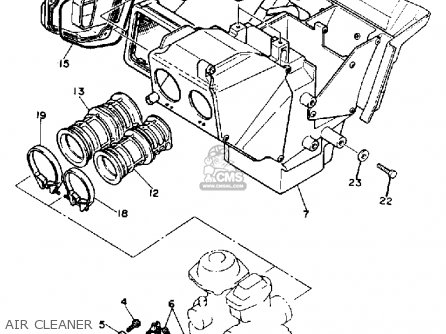 Yamaha Srx600s 1986 parts list partsmanual partsfiche