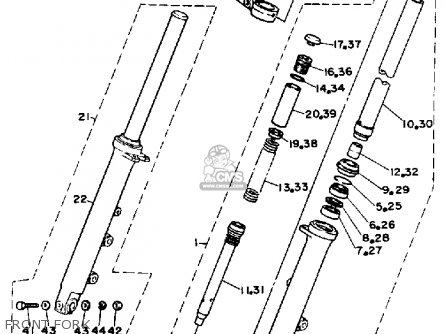 Yamaha Srx600s 1986 parts list partsmanual partsfiche