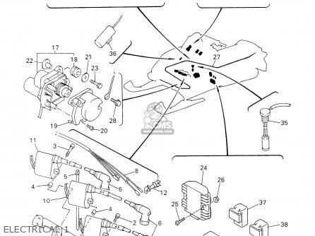 Yamaha Srx700f/sf 2001 parts list partsmanual partsfiche