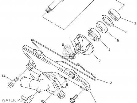 Yamaha Srx700g/sg 2002 parts list partsmanual partsfiche