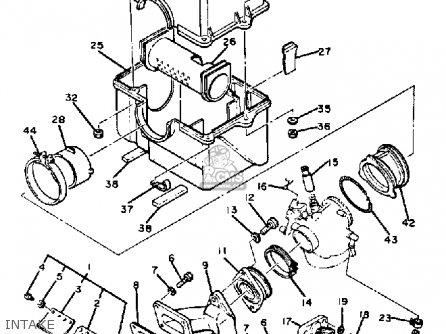 Yamaha Ss440f 1982/1983 parts list partsmanual partsfiche