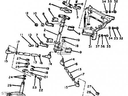Yamaha Ss440g 1982/1983 parts list partsmanual partsfiche