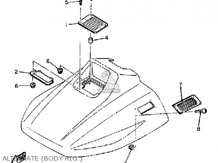 Yamaha SS440H 1984 parts lists and schematics