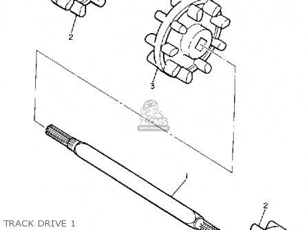 Yamaha Sv125er Sno-sport 1991 parts list partsmanual