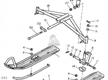 Yamaha Sv125p Sno-sport 1990 parts list partsmanual partsfiche