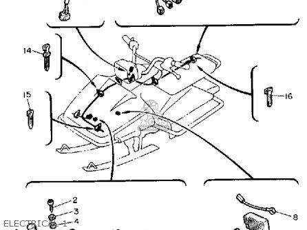 Yamaha Sv125r Sno-sport 1991 parts list partsmanual partsfiche