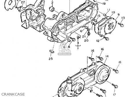 Yamaha Sv80p Sno-scoot 1990 parts list partsmanual partsfiche