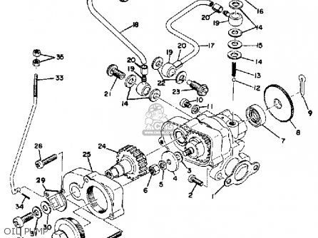Yamaha Sw396 1970 parts list partsmanual partsfiche