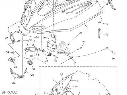 Yamaha Sx600/700d/700sd (sx-r) 2000 parts list partsmanual