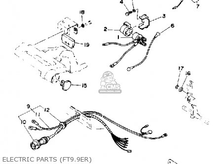 Yamaha T9.9(EH/ER)P 1991 parts lists and schematics