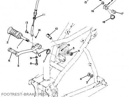 Yamaha Ta125 parts list partsmanual partsfiche