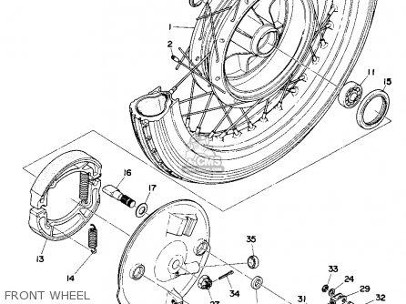 Yamaha Ta125 parts list partsmanual partsfiche