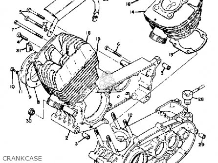 Yamaha Td2 1970 Usa parts list partsmanual partsfiche
