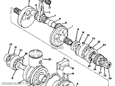 Yamaha Td2 1970 Usa parts list partsmanual partsfiche