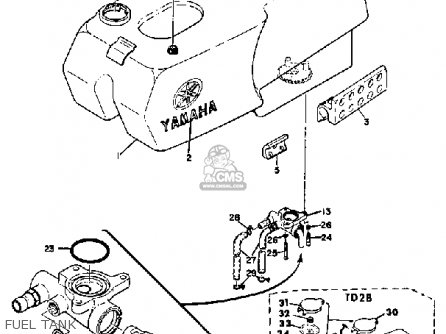 Yamaha TD2 1970 USA parts lists and schematics