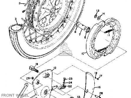 Yamaha Td2 1970/1971 parts list partsmanual partsfiche