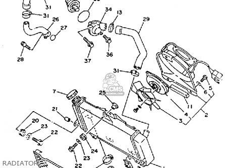 Yamaha TDM850 1992 (N) USA parts lists and schematics