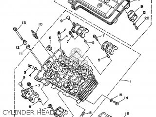 Yamaha Tdm850 1993 3vd5 France 233vd-351f2 parts list