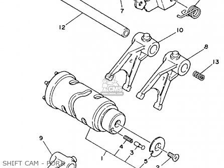 Yamaha Tdm850 1993 (p) Usa parts list partsmanual partsfiche
