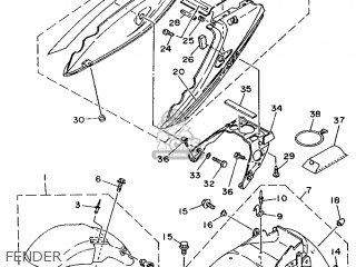 Yamaha TDM850 1995 4CM5 SWEDEN 253VD-300E2 parts lists and