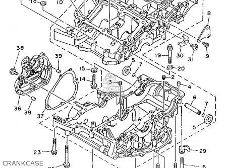 Yamaha Tdm850c 1993 (p) California parts list partsmanual