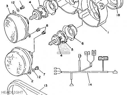 Yamaha Tdm850ec 1993 parts list partsmanual partsfiche