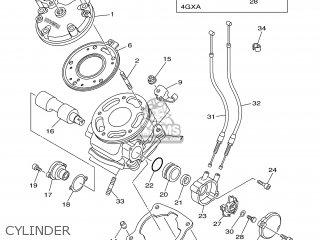 Yamaha TDR125 2002 5ANC SWEDEN 1A5AN-300E1 parts lists and