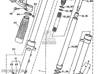 Yamaha TDR240 1990 3CL2 FRANCE 203CL-351F1 parts lists and