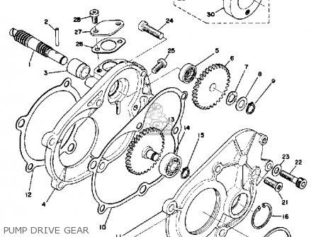 Yamaha Tl433f 1974 parts list partsmanual partsfiche