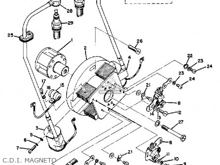 Yamaha Tr2b 1971 Usa parts list partsmanual partsfiche