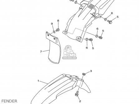 Yamaha TT125R TT125RC 2000 (Y) USA CALIFORNIA parts lists