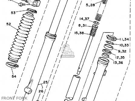 Yamaha Tt225 1987 (h) Usa Canada parts list partsmanual