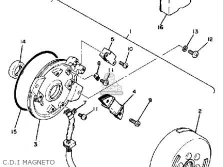 Yamaha Tt250 1981 (b) Usa parts list partsmanual partsfiche