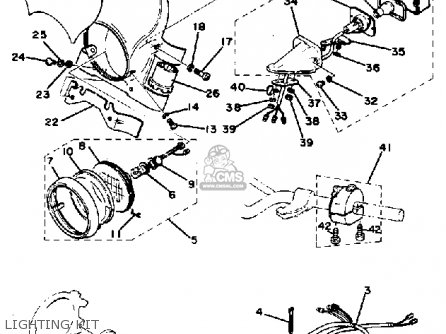 Yamaha TT250 1982 (C) USA parts lists and schematics