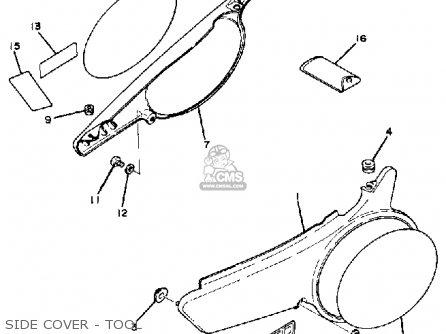 Yamaha Tt250 1982 (c) Usa parts list partsmanual partsfiche