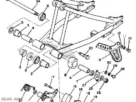 Yamaha Tt250 Off Road 1980 (a) Usa parts list partsmanual