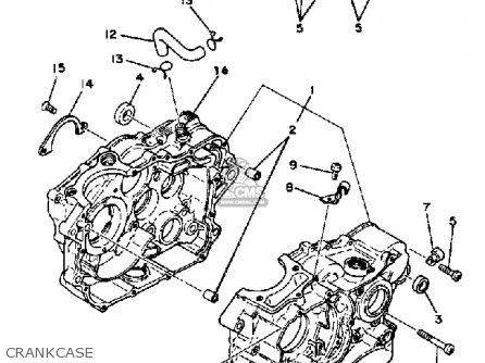 Yamaha Tt250g Off Road 1980 parts list partsmanual partsfiche