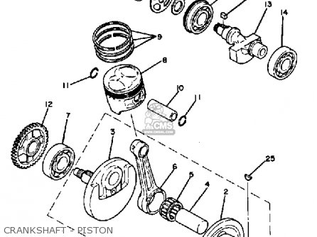 Yamaha Tt250h 1981 parts list partsmanual partsfiche