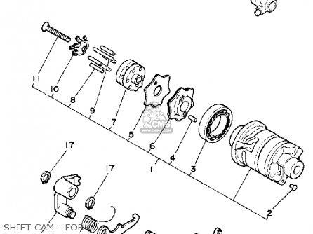 Yamaha Tt350 1986 (g) Usa Canada parts list partsmanual