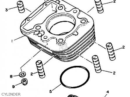 Yamaha TT350 1987 (H) USA CANADA parts lists and schematics