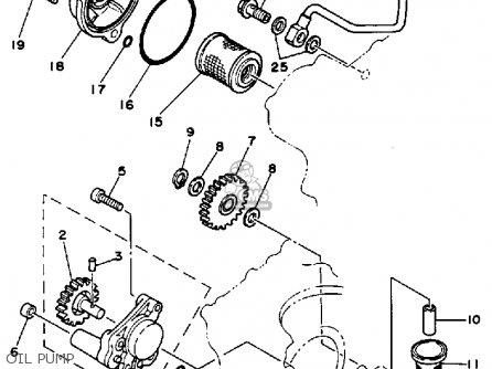 Yamaha Tt350 1987 (h) Usa Canada parts list partsmanual