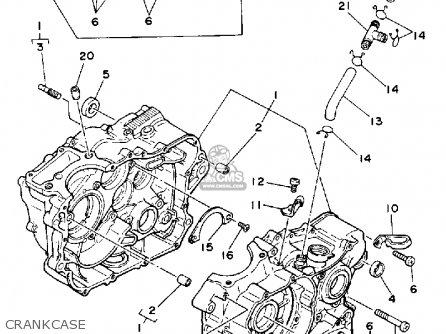 Yamaha Tt350s 1986 parts list partsmanual partsfiche