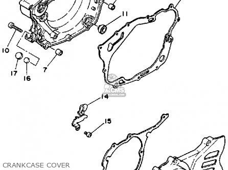 Yamaha Tt350t 1987 parts list partsmanual partsfiche
