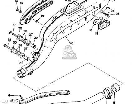 Yamaha TT500 OFFROAD 1977 USA parts lists and schematics