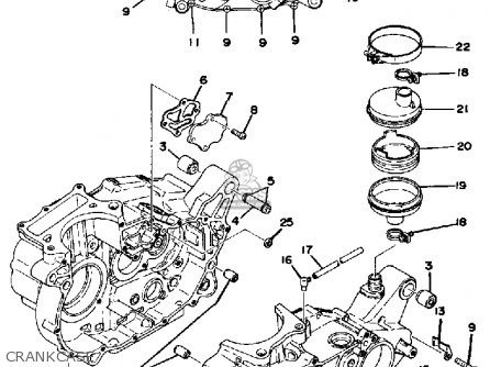 Yamaha Tt500 Offroad 1978 Usa Canada parts list