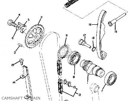 Yamaha Tt500g 1980 parts list partsmanual partsfiche