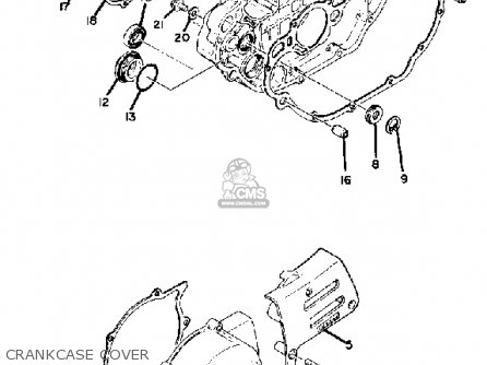 Yamaha Tt500g 1980 parts list partsmanual partsfiche