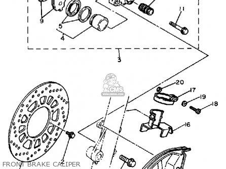 Yamaha Tt600 Offroad 1986 (g) Usa parts list partsmanual