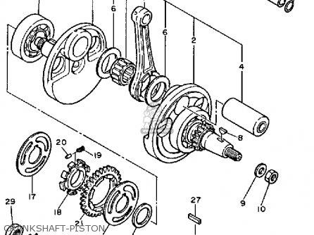 Yamaha Tt600n 1985 parts list partsmanual partsfiche